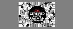 CXL certified digital psychology badge